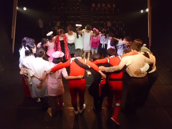 「ボクの心に天使が舞い降りた夜」 開場前、円陣を組んで Bチーム